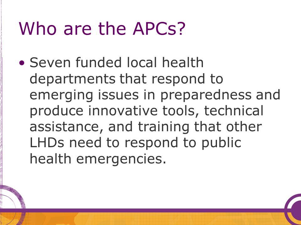 Who are the APCs.
