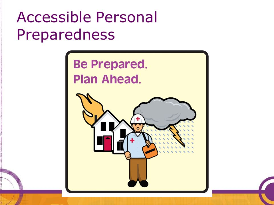 Accessible Personal Preparedness