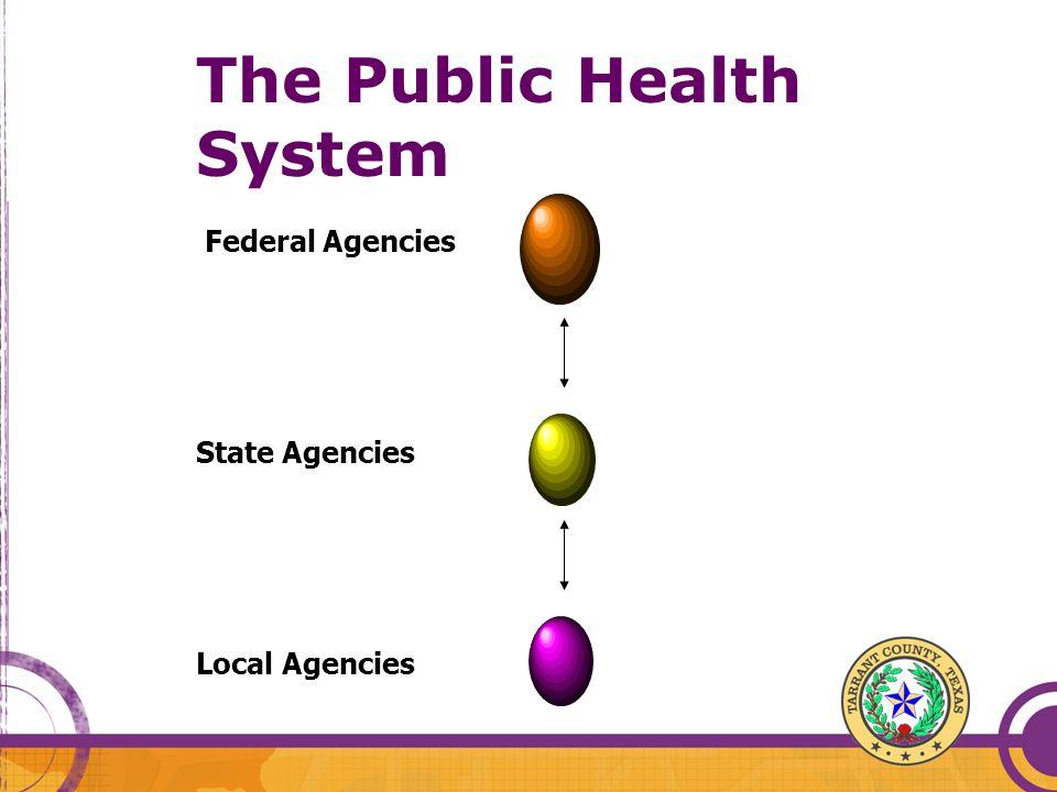 The Public Health System Federal Agencies State Agencies Local Agencies