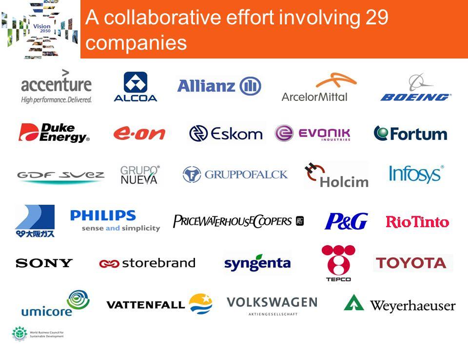 A collaborative effort involving 29 companies