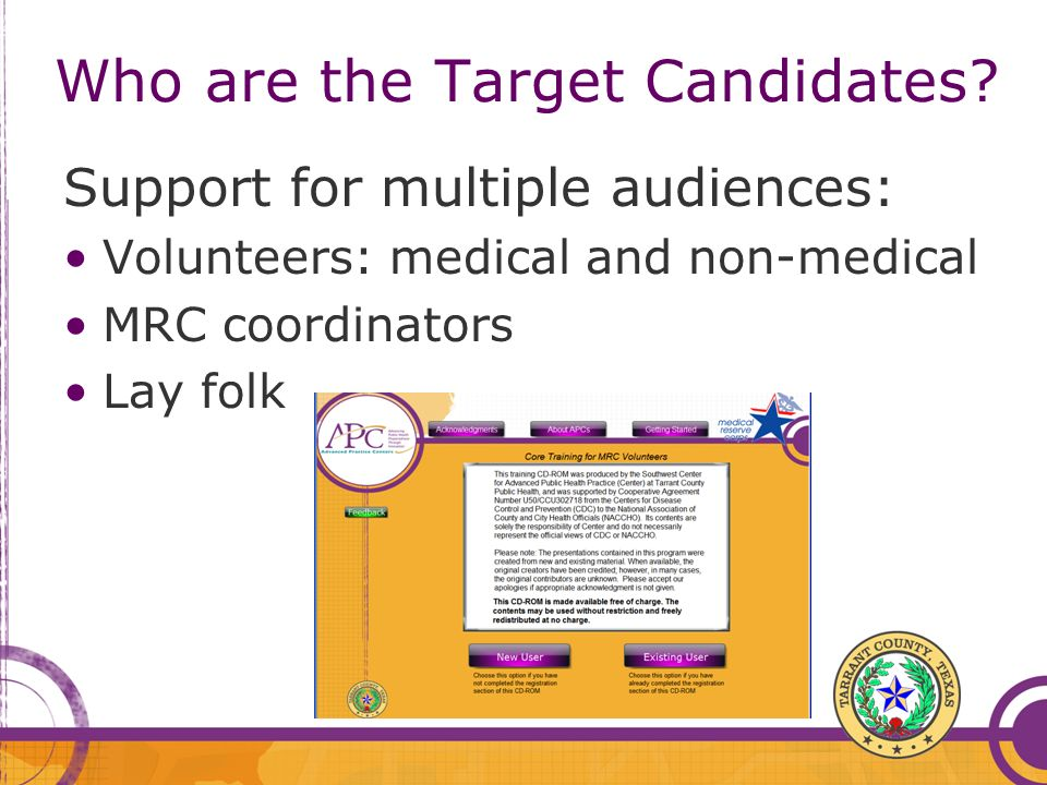 Who are the Target Candidates.