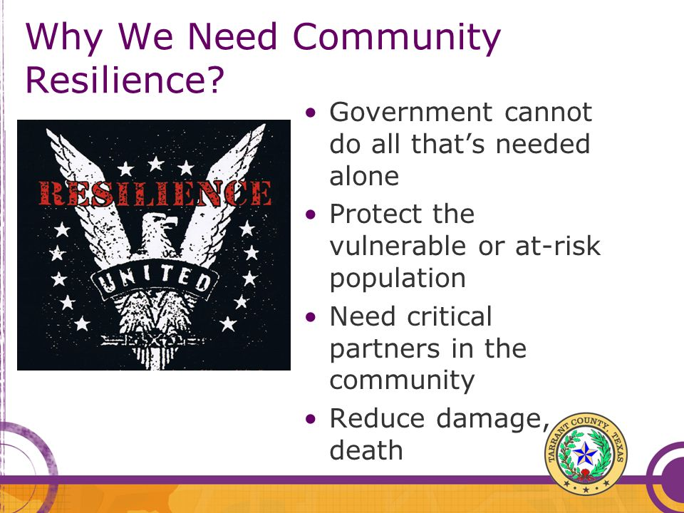 Why We Need Community Resilience.