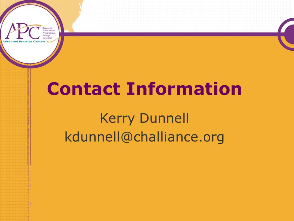Contact Information Kerry Dunnell