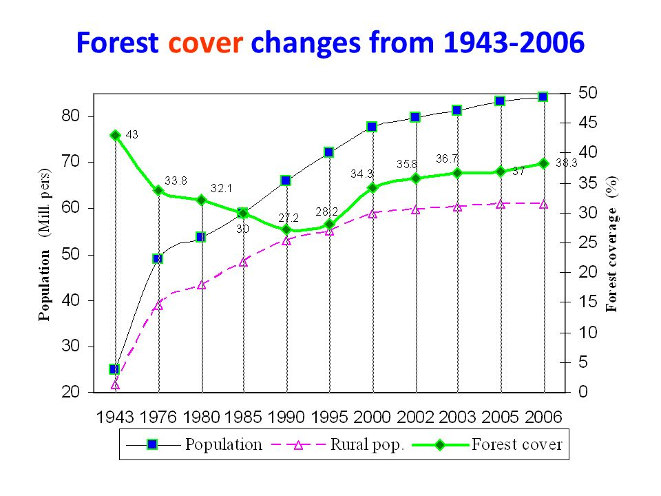 Forest cover changes from