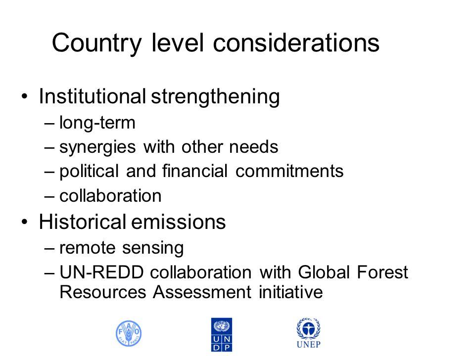 FRA 2010 Remote sensing survey Options for UN-REDD countries 1975 1990 2000 2005