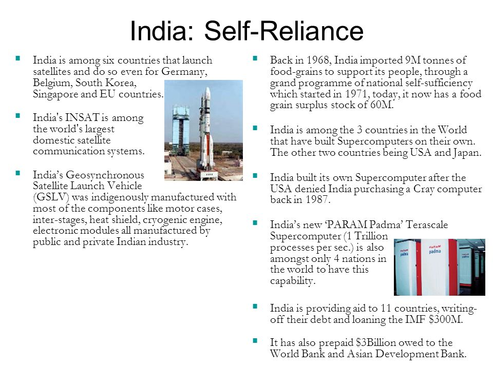 India: Self-Reliance India is among six countries that launch satellites and do so even for Germany, Belgium, South Korea, Singapore and EU countries.
