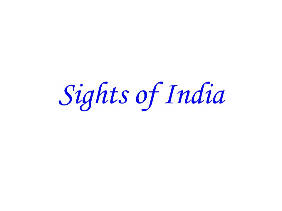 Sights of India