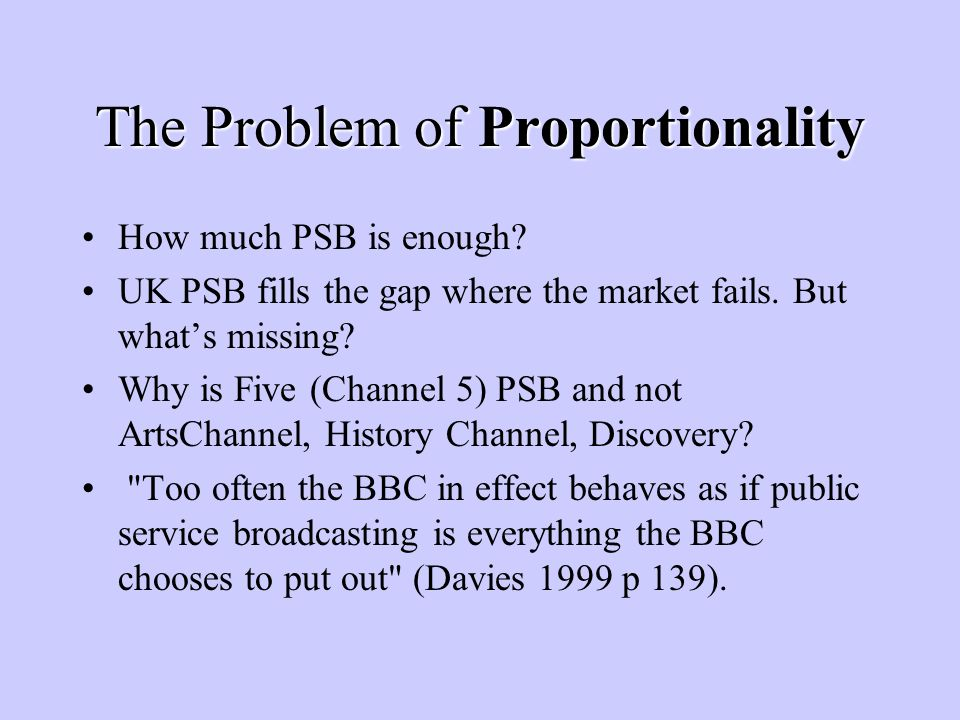 Regulation PSB and commercial sides under BBC roof will make Ofcoms (the concurrent competition regulator with sectoral expertise) task difficult.