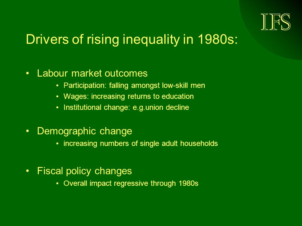 Inequality growth was localised 1996- 2002