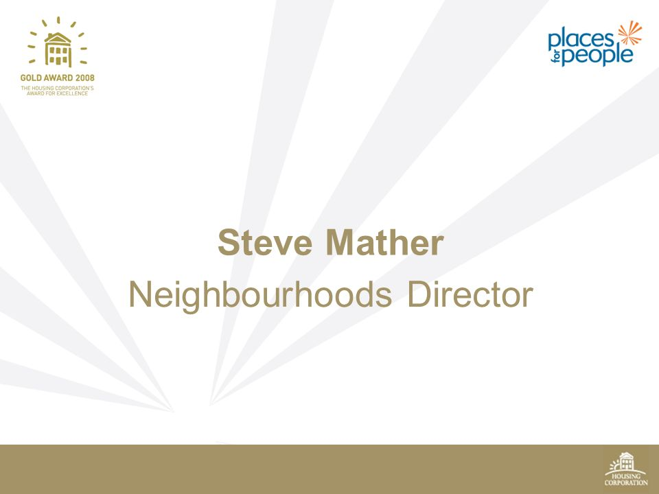 Neighbourhoods Director Steve Mather