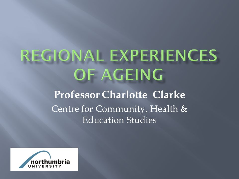 Professor Charlotte Clarke Centre for Community, Health & Education Studies