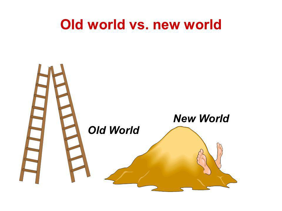 New World Old World Old world vs. new world