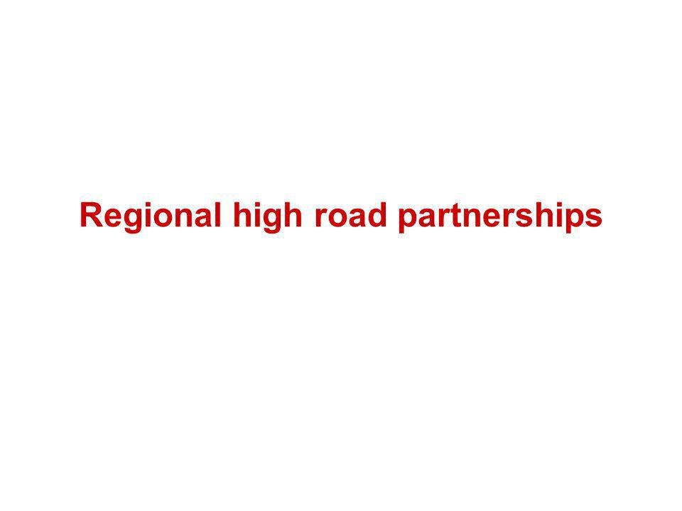 Regional high road partnerships