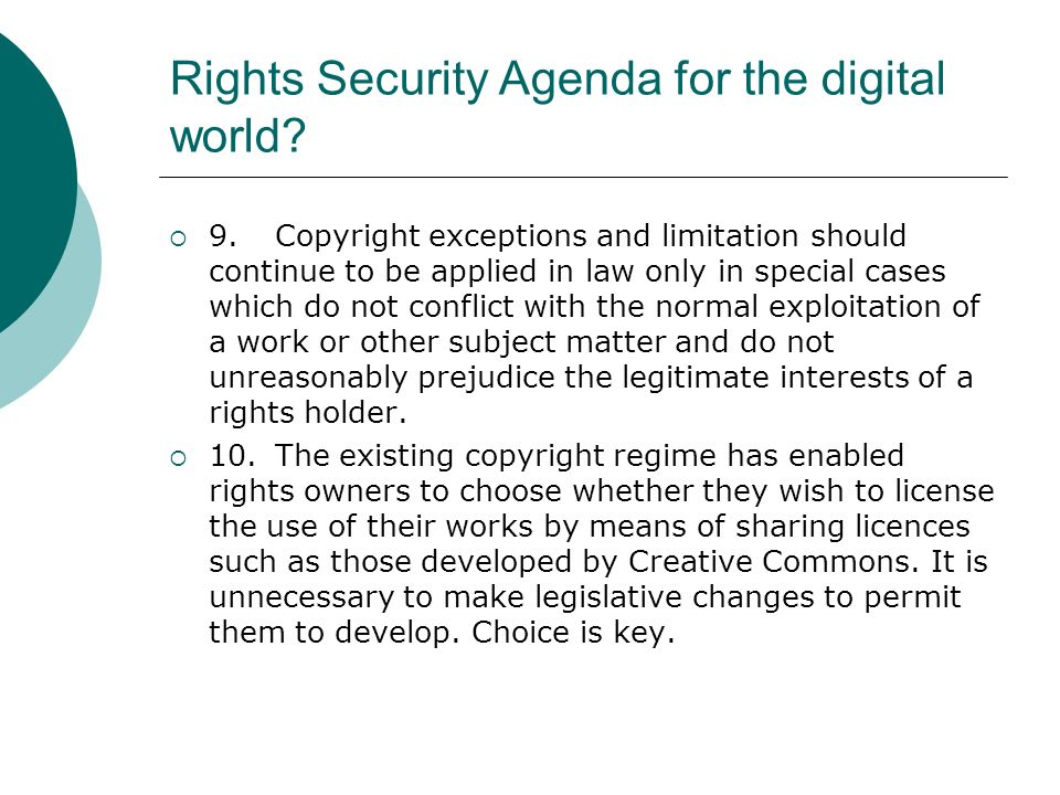 Rights Security Agenda for the digital world.