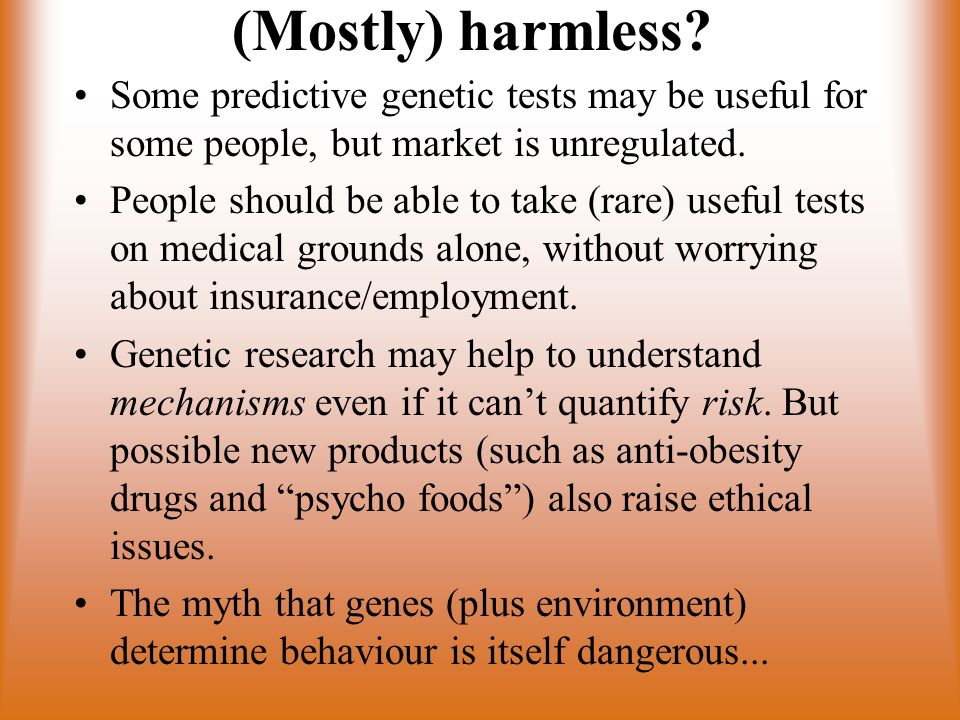 (Mostly) harmless.