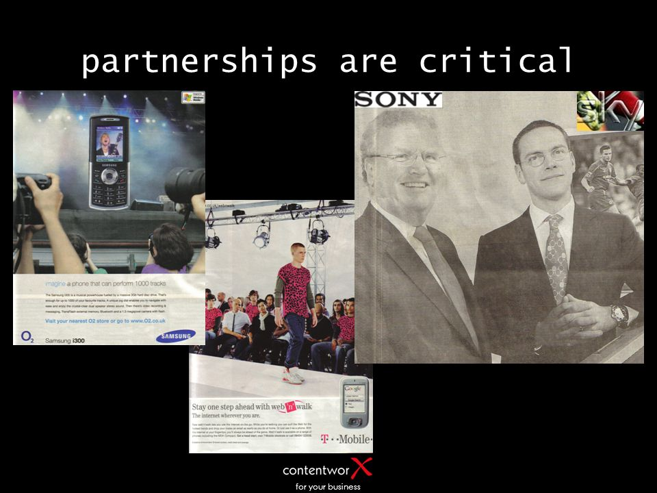 for your business partnerships are critical