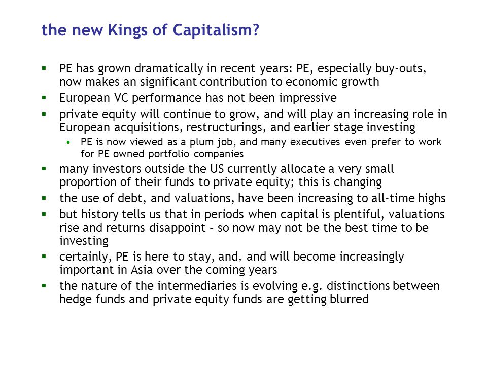 the new Kings of Capitalism.