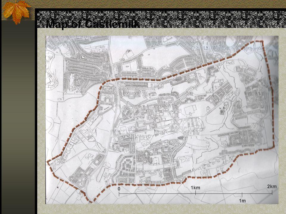 Map of Castlemilk 1km 2km 0 1m