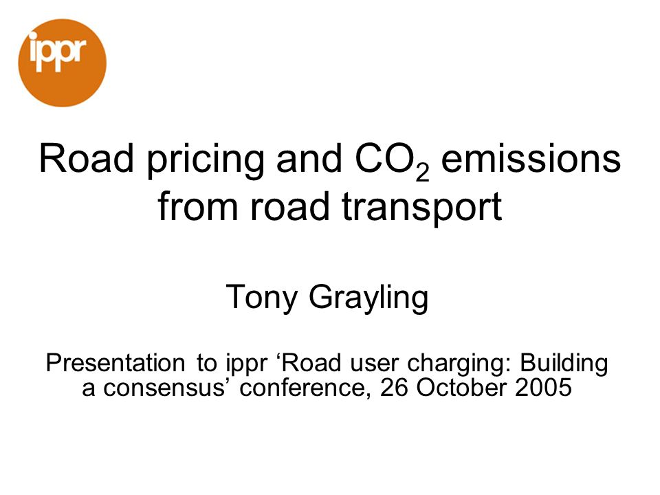 Climate change Urgent need to cut greenhouse gas emissions Department for Transport shares responsibility to cut emissions CO 2 emissions from road transport are large and growing