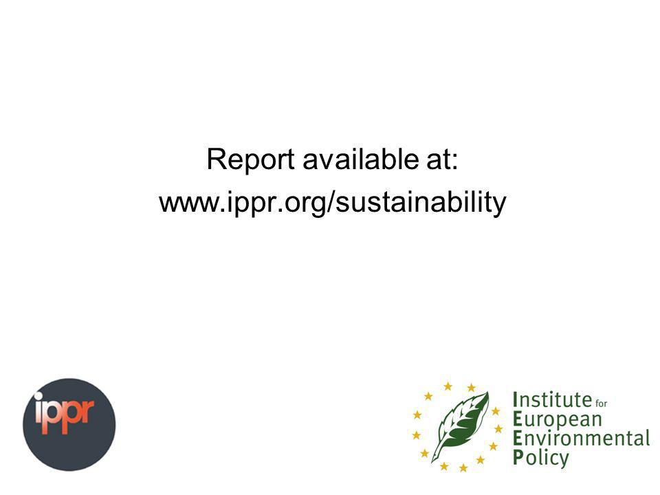 Report available at: www.ippr.org/sustainability
