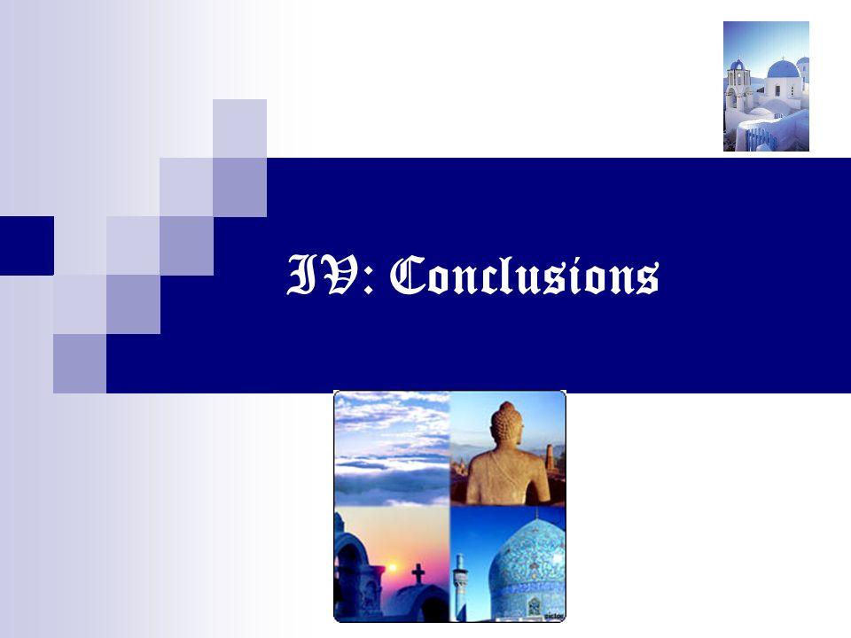 IV: Conclusions