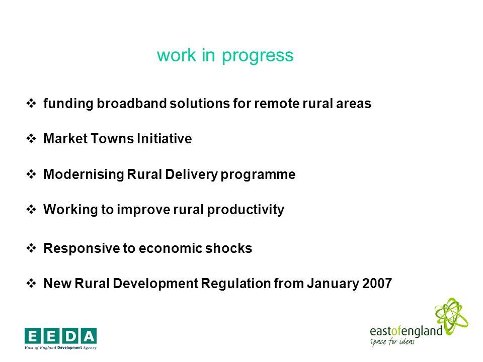 a new rural agenda Nurture economic dynamism in rural areas.