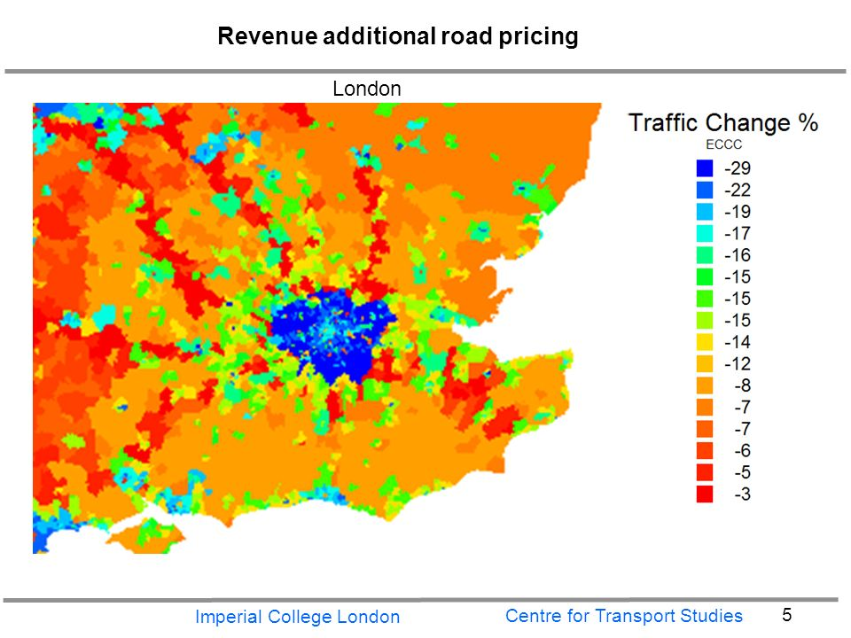 Imperial College London 5 Centre for Transport Studies Revenue additional road pricing London