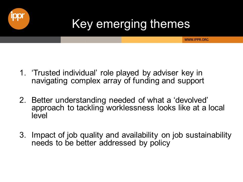 Key emerging themes 1.
