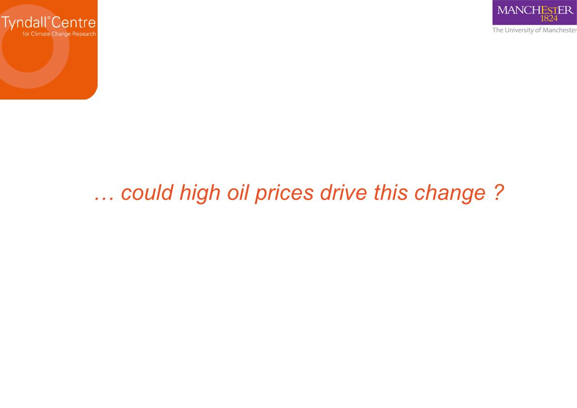 … could high oil prices drive this change ?
