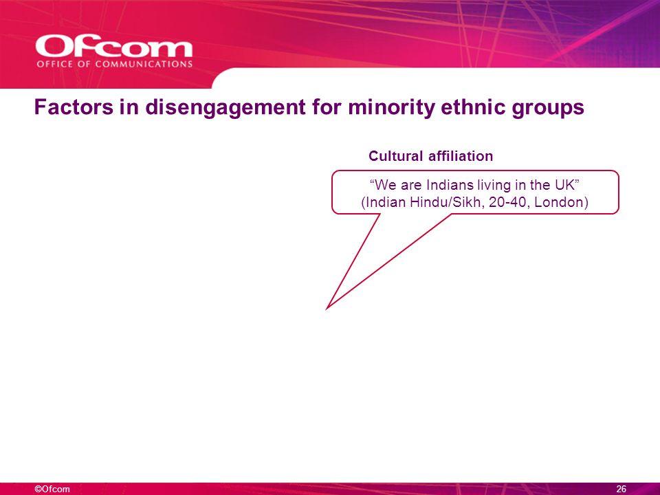 ©Ofcom25 Reasons for disengagement – 16-24s Politics.