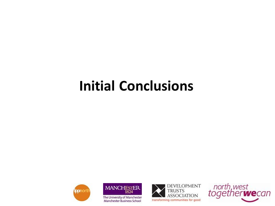 Initial Conclusions
