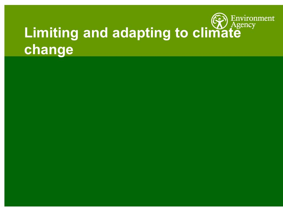 Limiting and adapting to climate change
