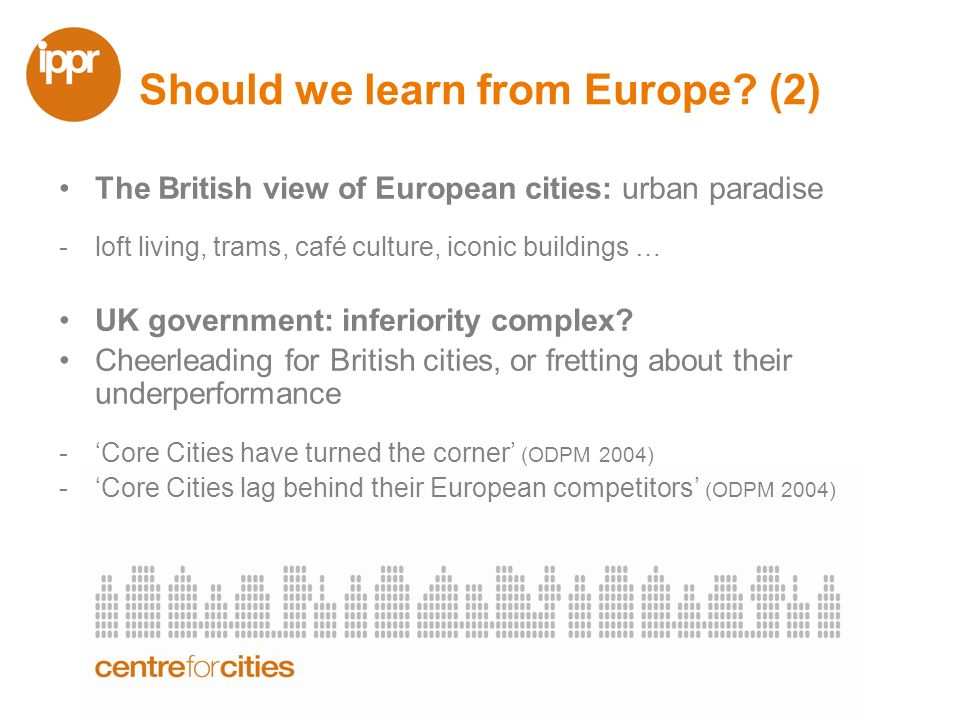 How should we learn.Are British cities actually doing worse.