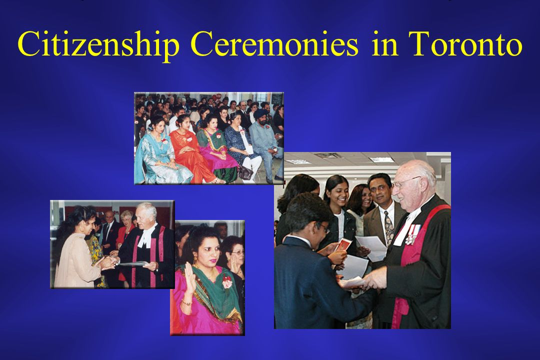 Citizenship Ceremonies in Toronto