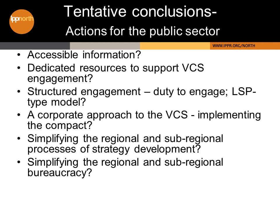 Tentative conclusions- Actions for the public sector Accessible information.