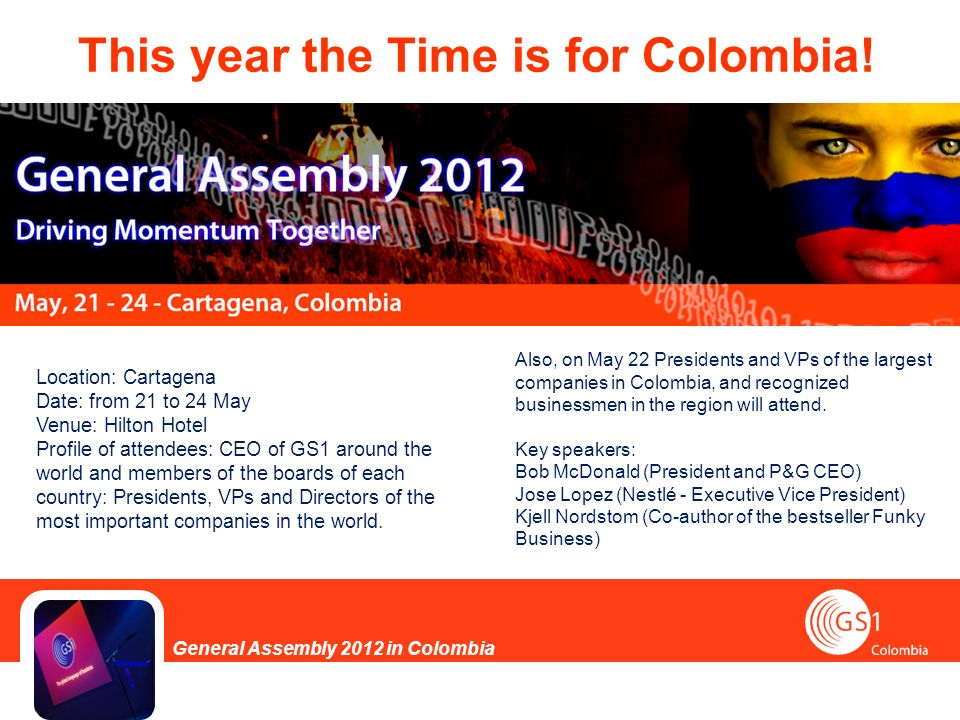 This year the Time is for Colombia.