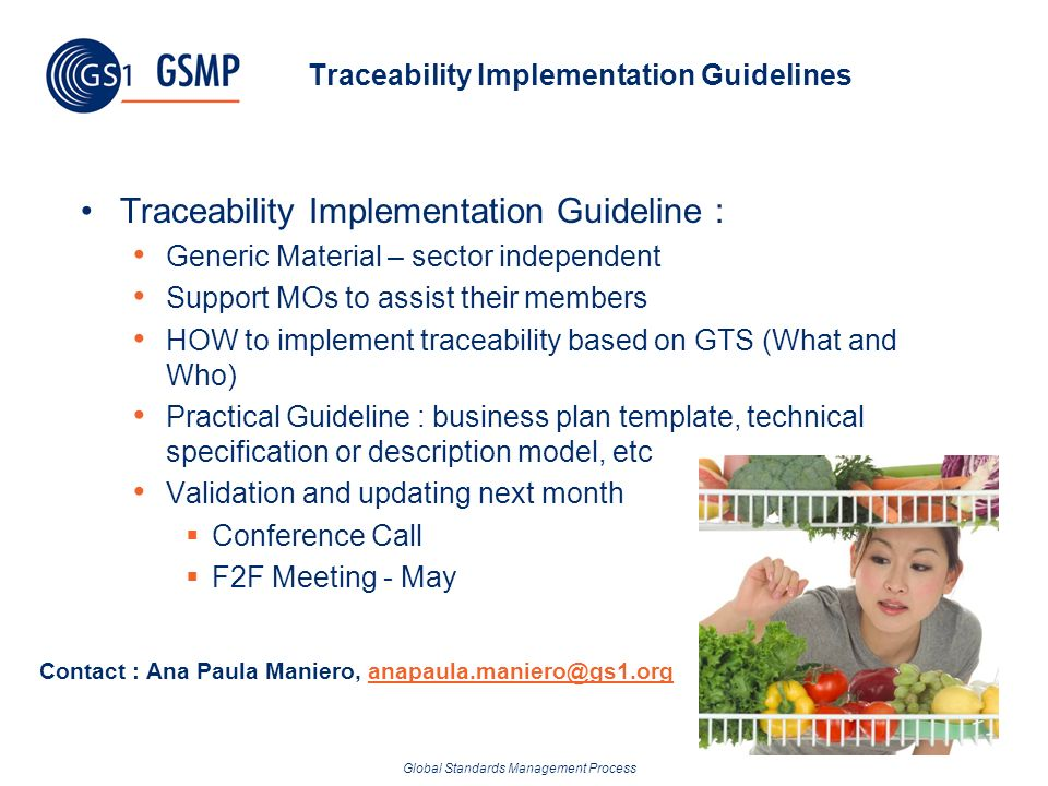 Global Standards Management Process Traceability Implementation Guidelines Traceability Implementation Guideline : Generic Material – sector independe