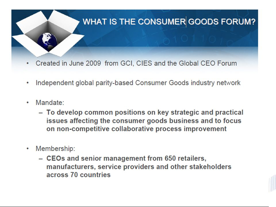 © 2011 GS1 Creating value together with global standards 11