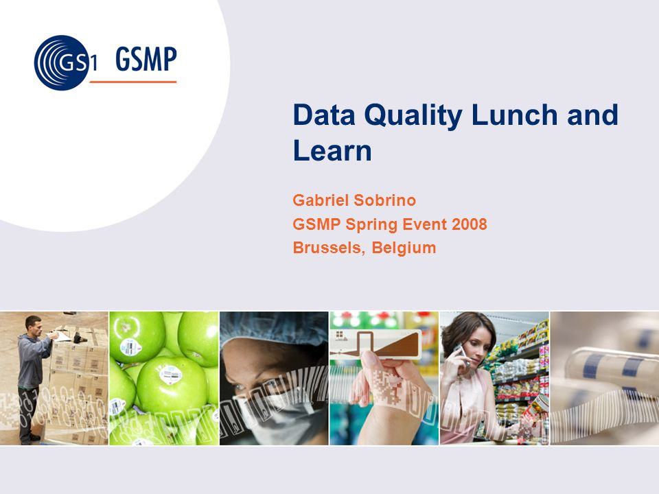 Data Quality Lunch and Learn Gabriel Sobrino GSMP Spring Event 2008 Brussels, Belgium