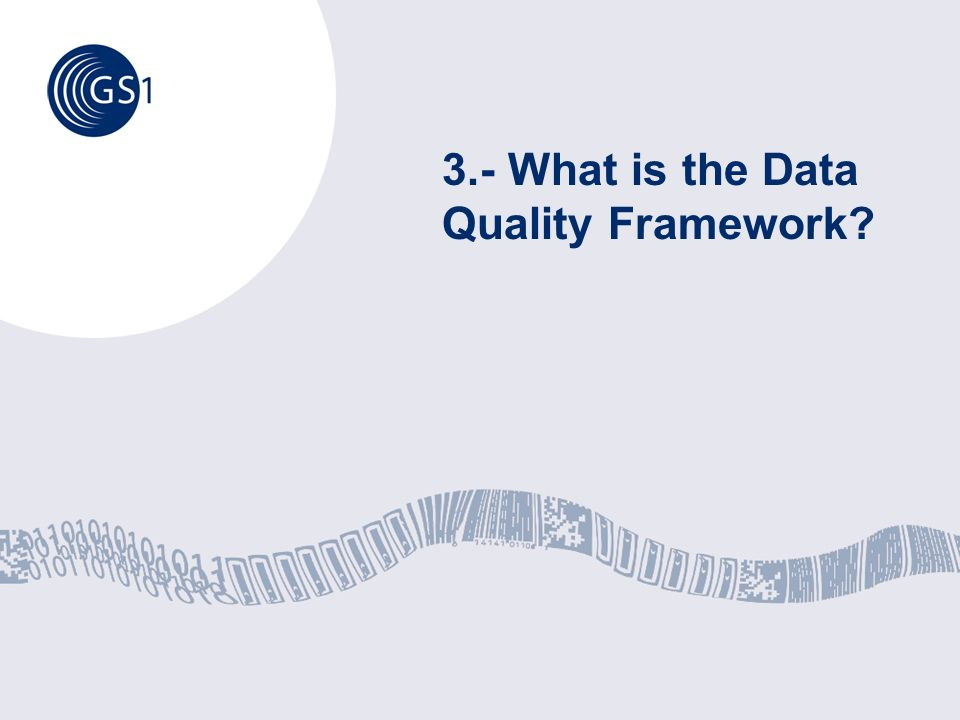 3.- What is the Data Quality Framework?