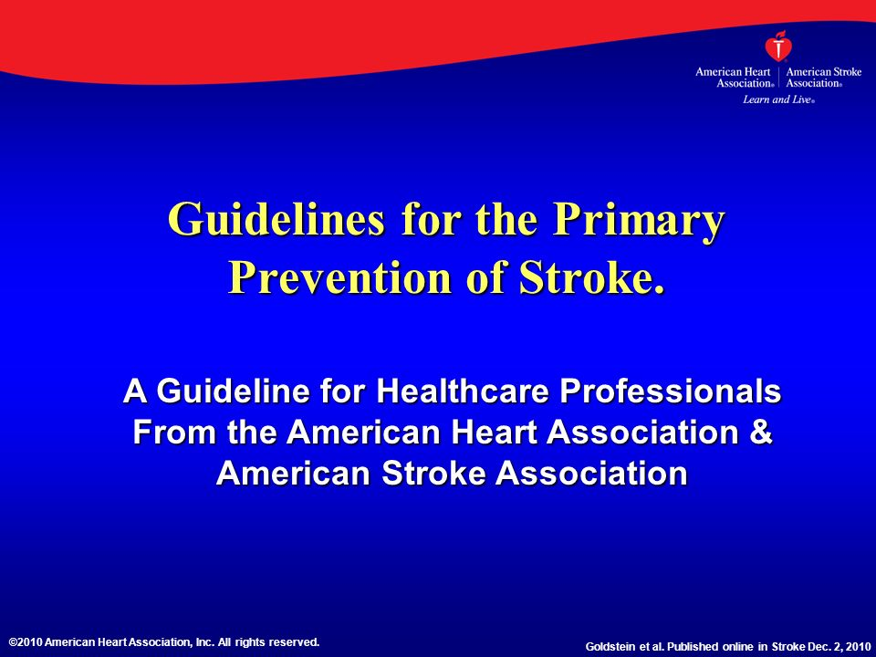 Asymptomatic Carotid Stenosis Risk Factors Recommendation Class/Level of Evidence Patients with asymptomatic carotid artery stenosis should be screened for other treatable risk factors for stroke with institution of appropriate lifestyle changes and medical therapy.