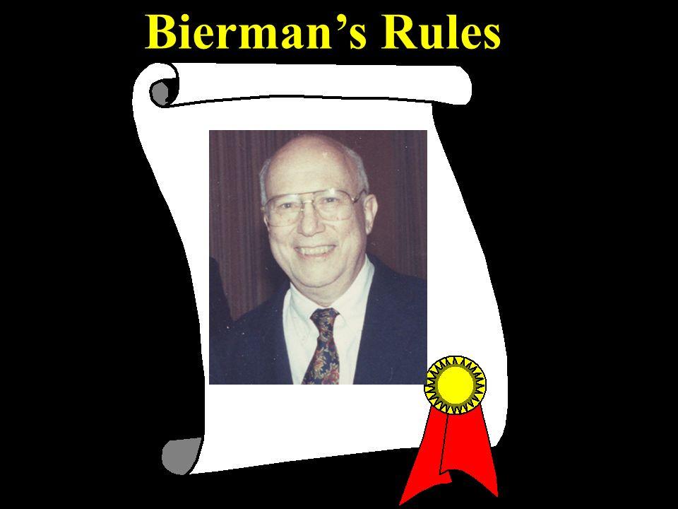 Biermans Rules