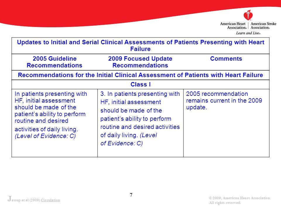 J essup et al (2009) Circulation © 2009, American Heart Association.