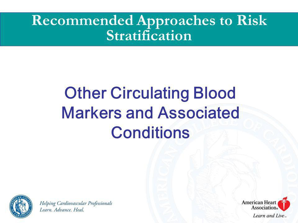 Other Circulating Blood Markers and Associated Conditions Recommended Approaches to Risk Stratification