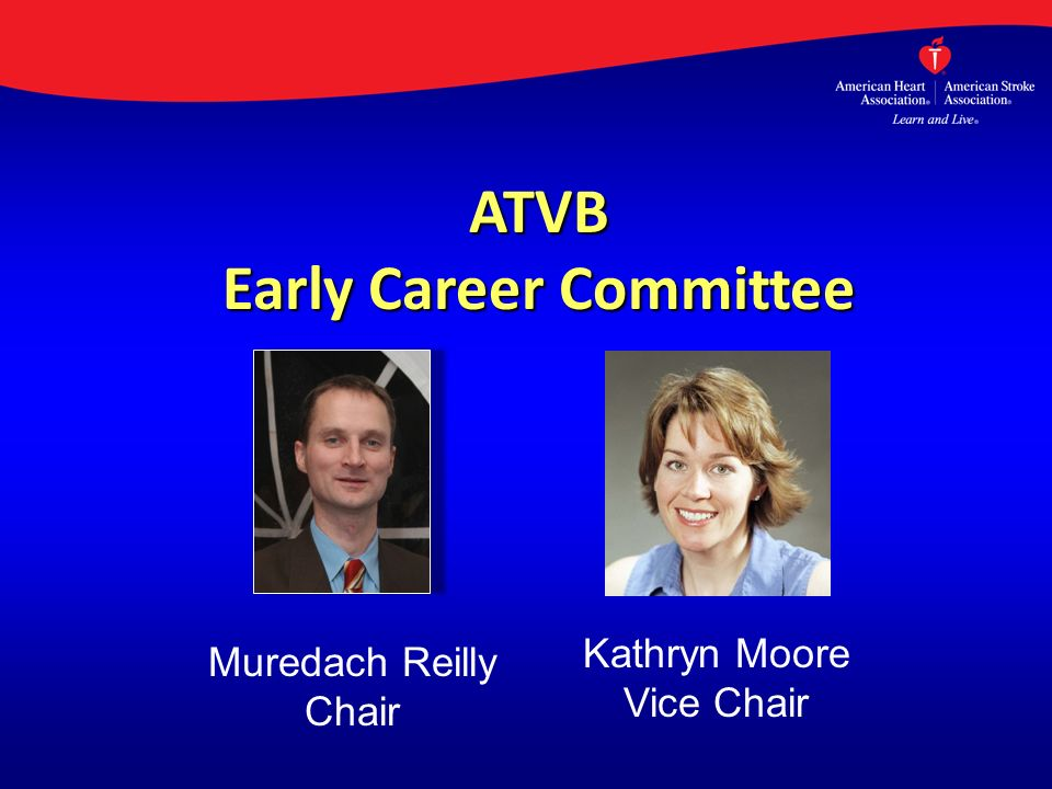 ATVB Early Career Committee Muredach Reilly Chair Kathryn Moore Vice Chair