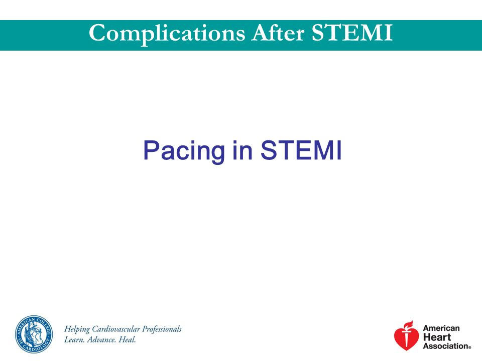 Pacing in STEMI Complications After STEMI