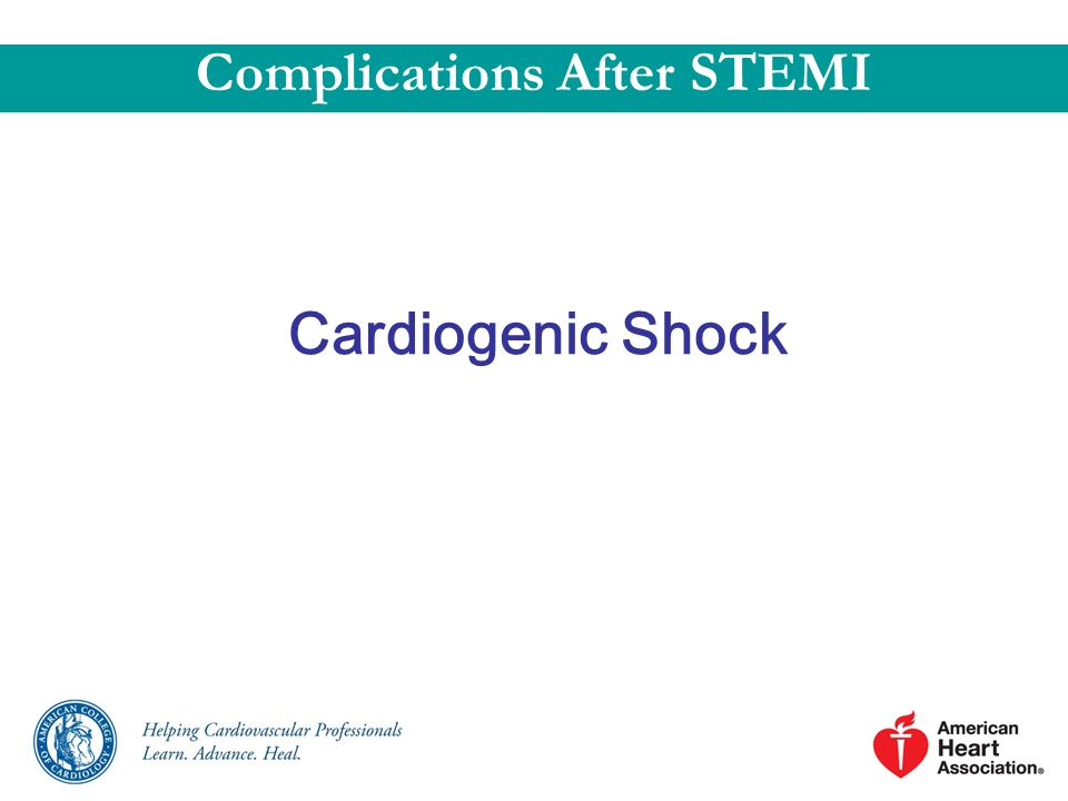 Cardiogenic Shock Complications After STEMI
