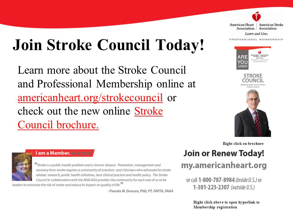 Join Stroke Council Today.
