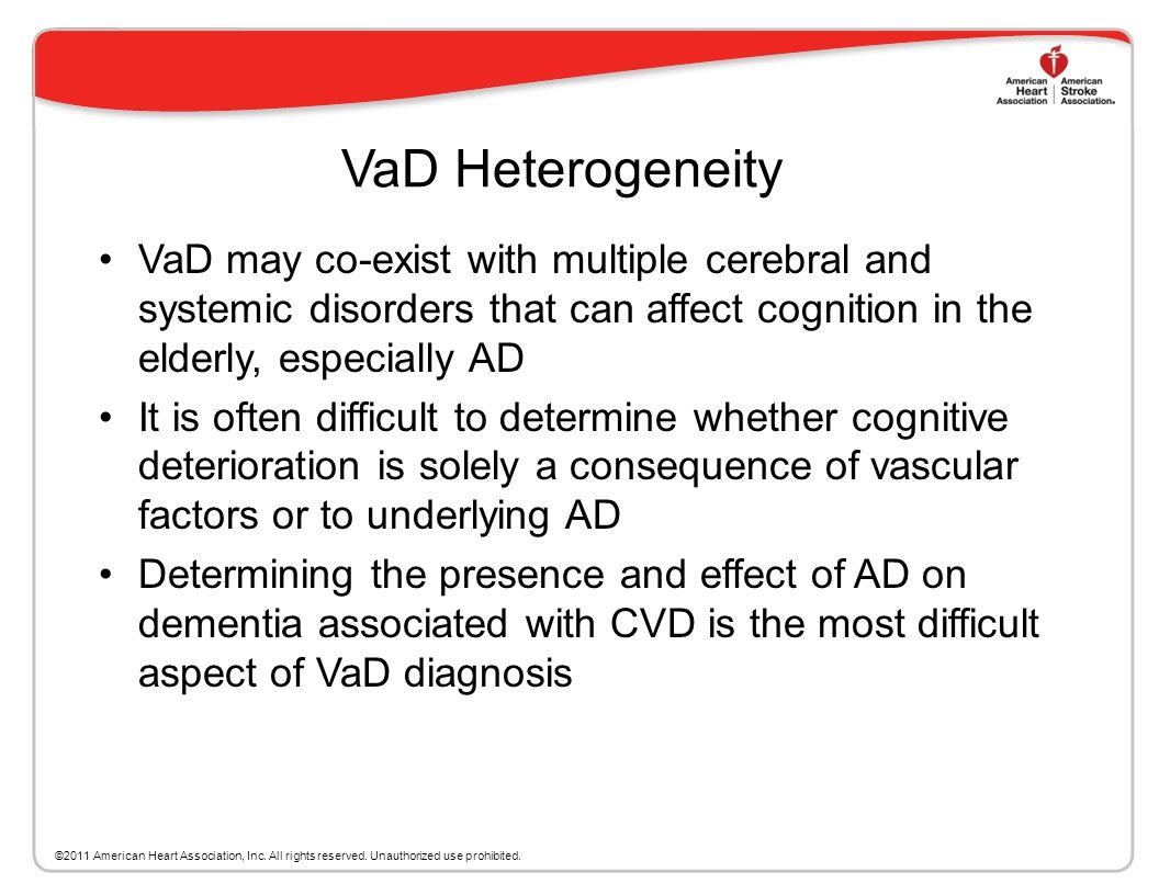 The Relationship of CVD to VaD White matter lesions (WML), aka leukoaraiosis, are critical in diagnosing CADASIL (cerebral autosomal dominant arteriop