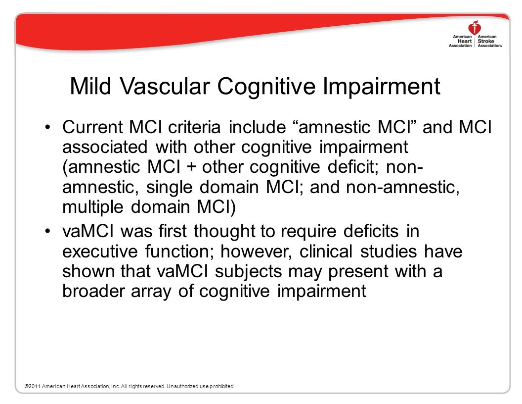 VaD Heterogeneity VaD may co-exist with multiple cerebral and systemic disorders that can affect cognition in the elderly, especially AD It is often d